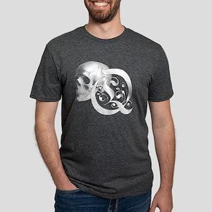 Gothic Skull Initial Q Mens Tri-blend T-Shirt