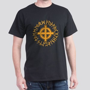Celtic Cross and Runes Dark T-Shirt