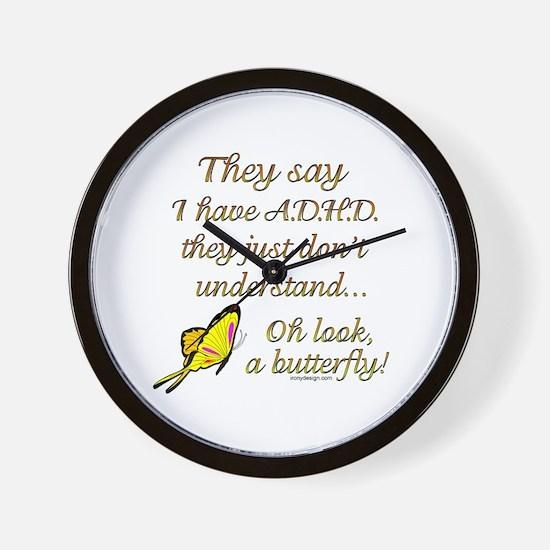 ADHD Butterfly Wall Clock