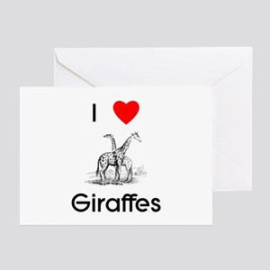 I Love Giraffes Greeting Cards (Pk of 10)