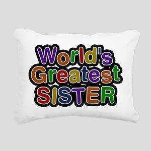 Worlds Greatest Sister Rectangular Canvas Pillow