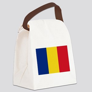 Romanian Flag Canvas Lunch Bag