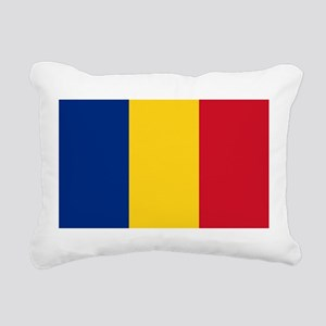 Romanian Flag Rectangular Canvas Pillow