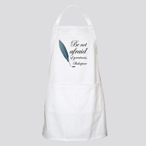 Shakespeare Greatness Quote Apron