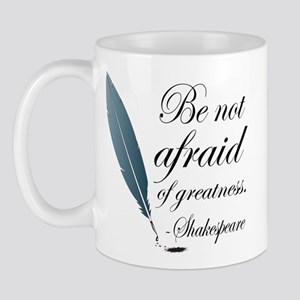 Shakespeare Greatness Quote Mug