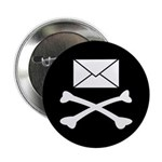 Go Postal Jolly Roger Button