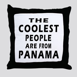 The Coolest Panama Designs Throw Pillow
