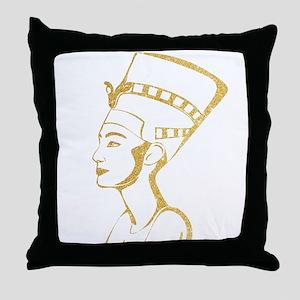 Nefertiti Egyptian Queen Throw Pillow