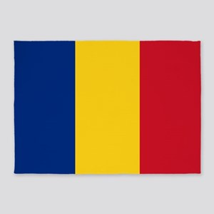Romanian Flag 5'x7'Area Rug
