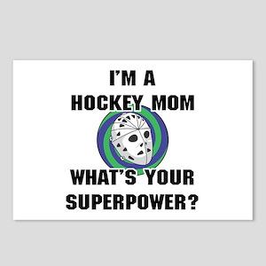 Hockey Mom Superhero Postcards (Package of 8)