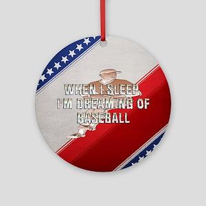 TOP Baseball Dreams Ornament (Round)