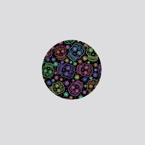 Day Of The Dead Pattern Mini Button