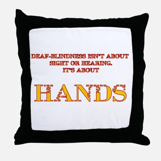 Defa-blind Throw Pillow