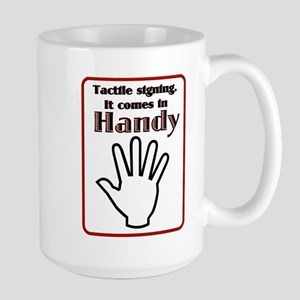 Tactle signing Large Mug