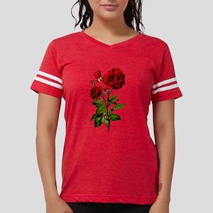Vintage Red Rose Womens Football Shirt