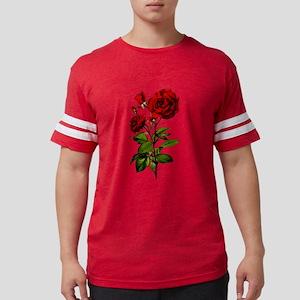 Vintage Red Rose Mens Football Shirt