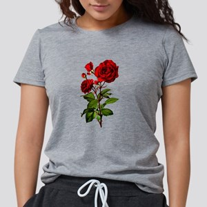 Vintage Red Rose Womens Tri-blend T-Shirt