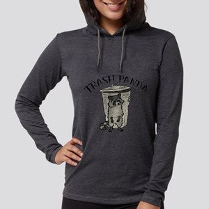 Raccoon Trash Panda Womens Hooded Shirt