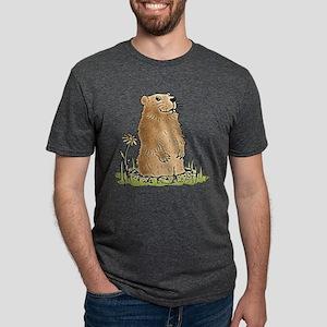Cute Groundhog Mens Tri-blend T-Shirt