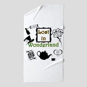 Lost in Wonderland Beach Towel