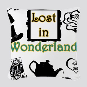 Lost in Wonderland Woven Throw Pillow