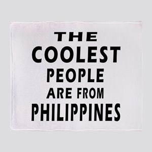 The Coolest Philippines Designs Throw Blanket
