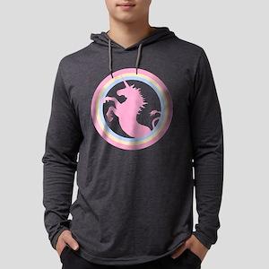 Pink Unicorn Mens Hooded Shirt