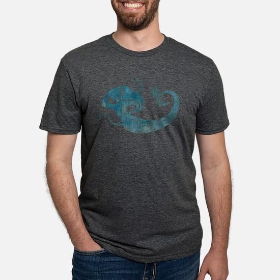 Worn Mermaid Mens Tri-blend T-Shirt