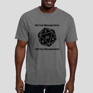 PERSONALIZED D20 Graphic Mens Comfort Colors Shirt