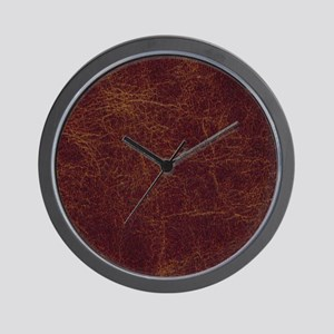 Wild West Leather 1 Wall Clock