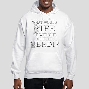 Verdi Music Quote Hooded Sweatshirt