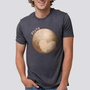 Cute Pluto Heart Mens Tri-blend T-Shirt