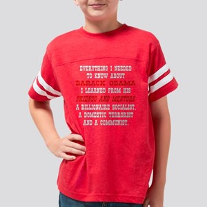 blk_Know_About_Obama_2 Youth Football Shirt