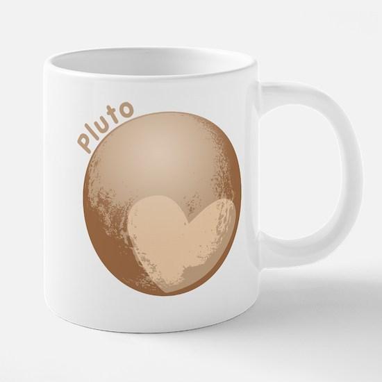 Cute Pluto Heart 20 oz Ceramic Mega Mug