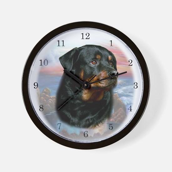 Rottwieler Wall Clock