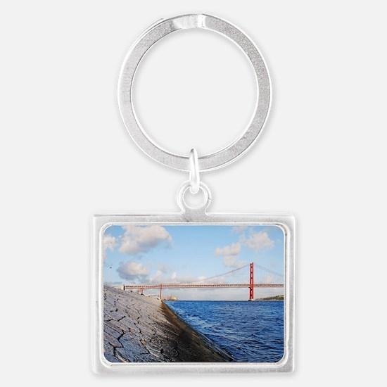 April 25th bridge Landscape Keychain