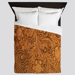 Wild West Texture 2 Queen Duvet
