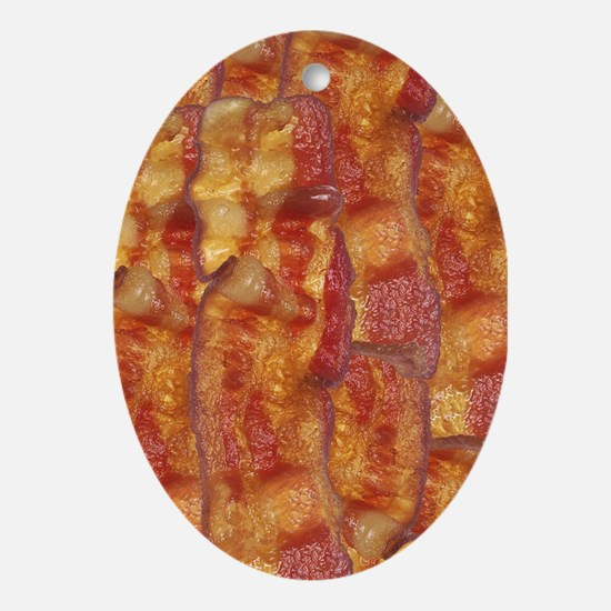 Bacon Background Ornament (Oval)