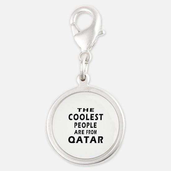 The Coolest Qatar Designs Silver Round Charm