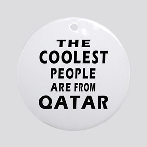 The Coolest Qatar Designs Ornament (Round)