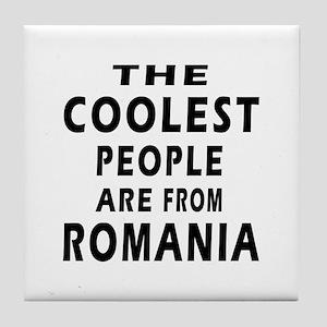 The Coolest Romania Designs Tile Coaster
