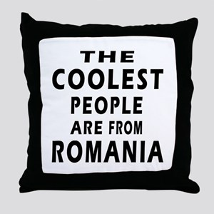 The Coolest Romania Designs Throw Pillow