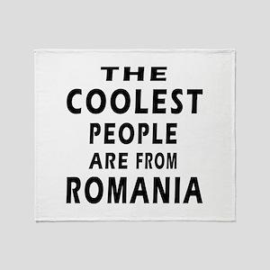 The Coolest Romania Designs Throw Blanket
