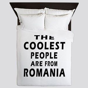 The Coolest Romania Designs Queen Duvet