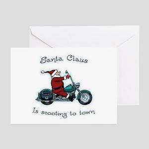 Santa Scoot Greeting Cards (Pk of 10)