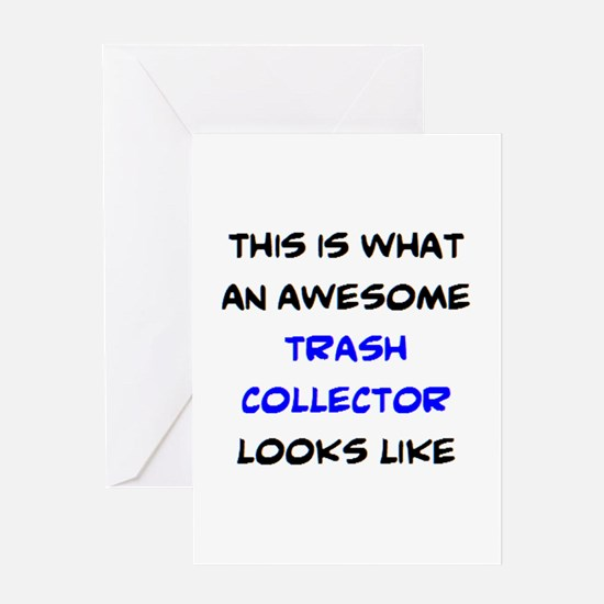 awesome trash collector Greeting Card
