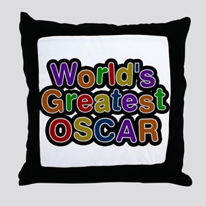 Worlds Greatest Oscar Throw Pillow