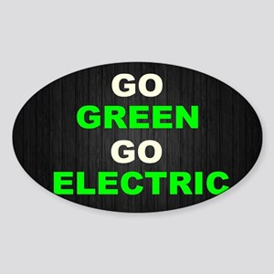 GREEN Sticker (Oval)