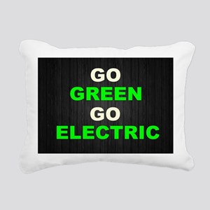 GREEN Rectangular Canvas Pillow