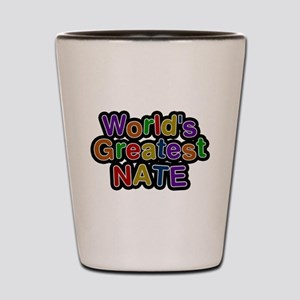 Worlds Greatest Nate Shot Glass